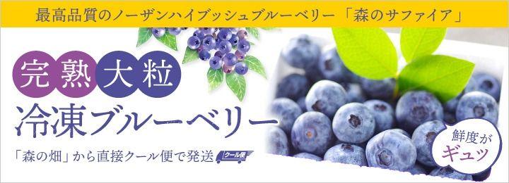 大粒完熟冷凍ブルーベリー「森のサファイア」